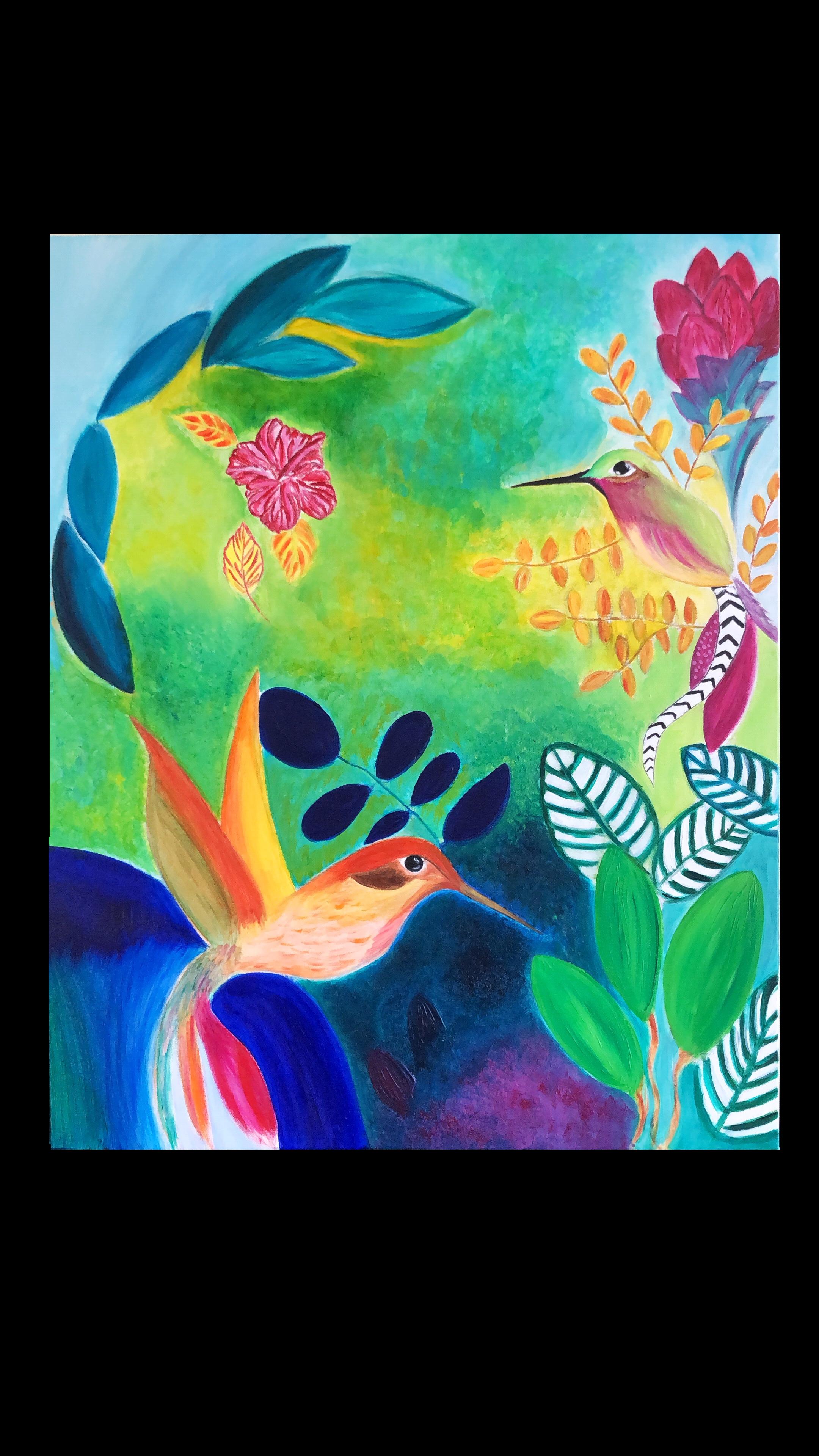 tabliers de cuisine pour femmes chef hommes Katrine magasin fleurs oiseaux et /éclaboussures de couleur dans la peinture /à laquarelle tablier /à bavette r/églable avec 2 poches